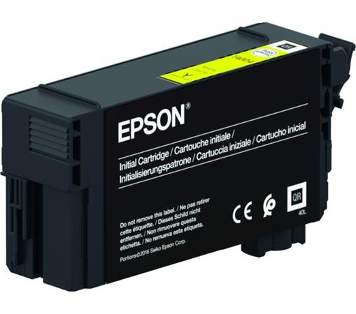 T40D440 Tintapatron, SC-T3100, T5100, T3100N, T5100N nyomtatókhoz, UltraChrome XD2, EPSON, sárga, 50 ml