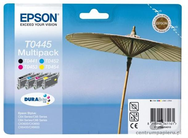 T04454010 Tintapatron multipack Stylus C64, C66, C84 nyomtatókhoz, EPSON b+c+m+y, 37ml