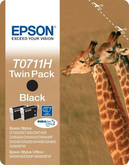 T07114H10 Tintapatron Stylus D120 nyomtatóhoz, EPSON fekete, 2*11ml