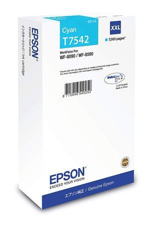 T754240 Tintapatron WorkForce Pro WF-8590, 8090 nyomtatókhoz, EPSON, cián, 7k