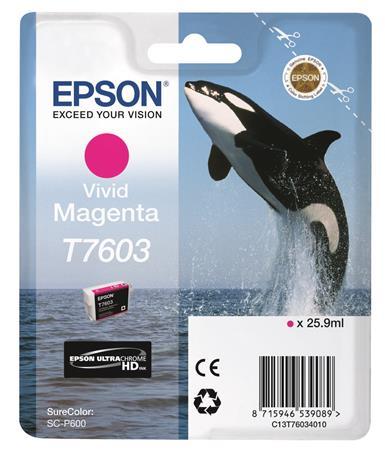 T76034010 Tintapatron SureColor SC-P600 nyomtatóhoz, EPSON, magenta, 25,9 ml