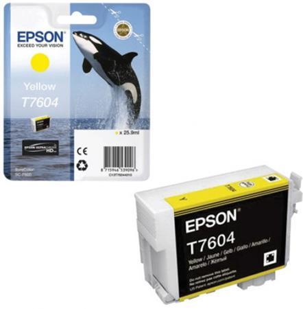 T76044010 Tintapatron SureColor SC-P600 nyomtatóhoz, EPSON, sárga, 25,9 ml
