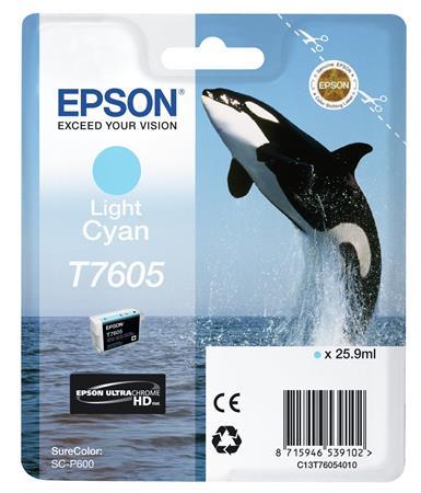 T76054010 Tintapatron SureColor SC-P600 nyomtatóhoz, EPSON, világos cián, 25,9 ml