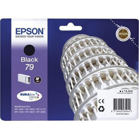 T79114010 Tintapatron Workforce Pro WF-5110, WF-5690 nyomtatókhoz, EPSON, fekete, 0,9k