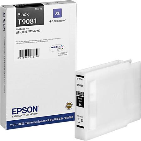 C13T908140 Tintapatron Workforce Pro WF-6090, WF-6590 nyomtatókhoz, EPSON, fekete, 5k