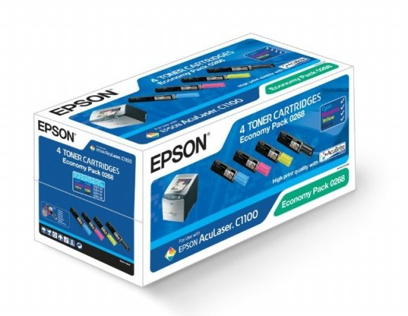 S050268 Lézertoner multipack Aculaser C1100 nyomtatóhoz, EPSON b+c, 4k, 1,5k