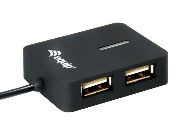 USB elosztó-HUB, 4 port, USB 2.0, EQUIP