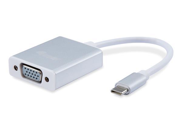 Adapter, USB-C-VGA, EQUIP