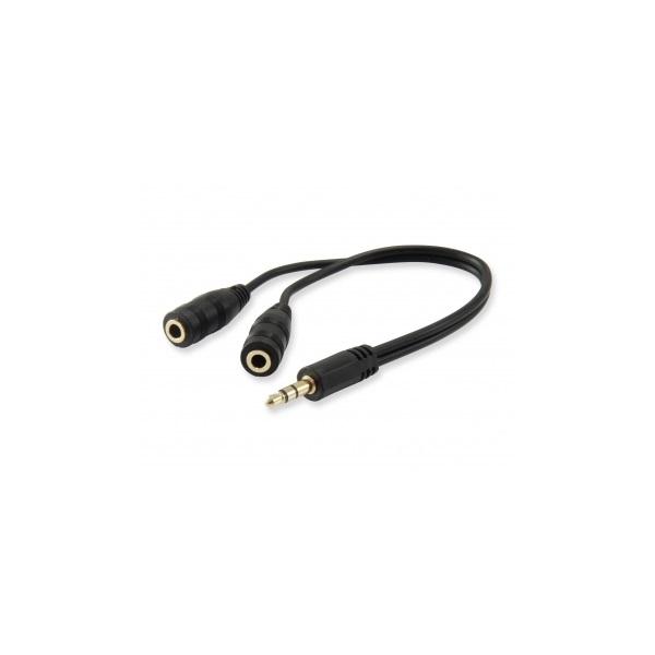 Audio elosztó kábel, 13 cm, EQUIP