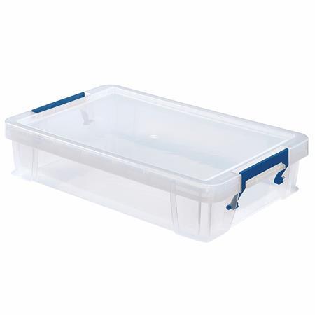 Műanyag tároló doboz, átlátszó, 5,5 liter, FELLOWES,