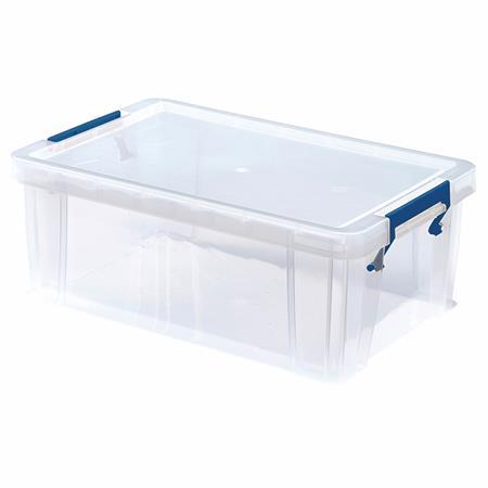 Műanyag tároló doboz, átlátszó, 10 liter, FELLOWES,