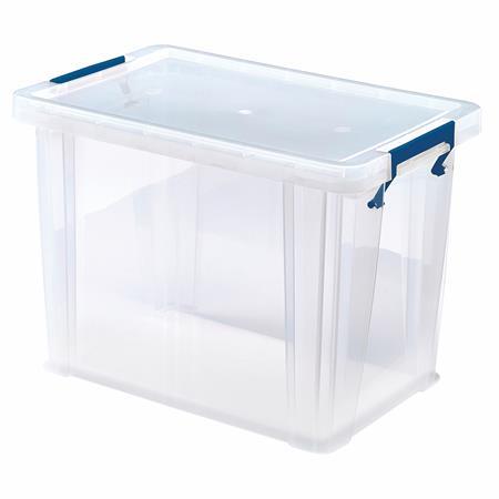 Műanyag tároló doboz, átlátszó, 18,5 liter, FELLOWES,