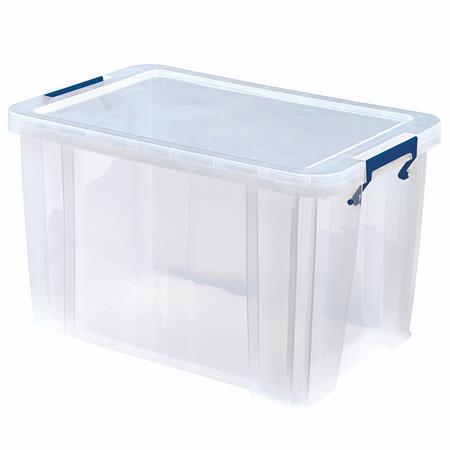 Műanyag tároló doboz, átlátszó, 26 liter, FELLOWES,