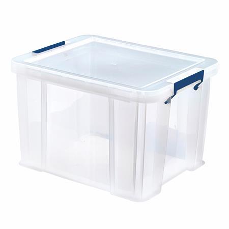 Műanyag tároló doboz, átlátszó, 36 liter, FELLOWES,