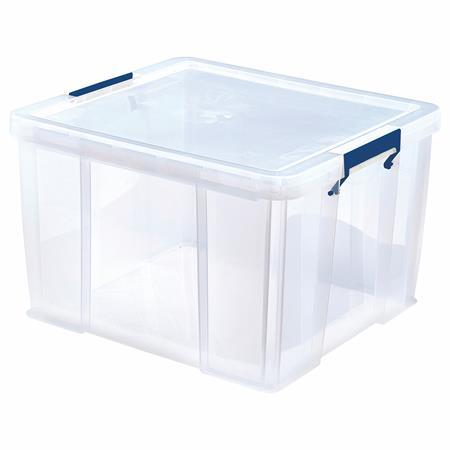 Műanyag tároló doboz, átlátszó, 48 liter, FELLOWES,