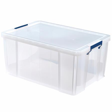 Műanyag tároló doboz, átlátszó, 70 liter, FELLOWES,