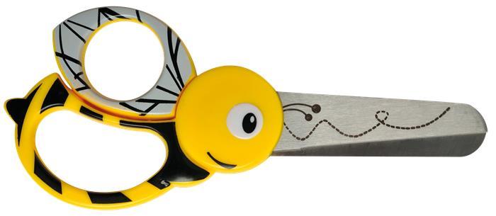 Olló, óvodai, 13 cm, FISKARS, méhecske