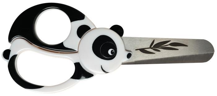 Olló, óvodai, 13 cm, FISKARS, panda