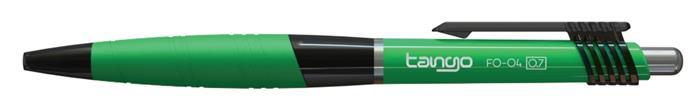 Golyóstoll, 0,35 mm, nyomógombos, vegyes színű test FLEXOFFICE