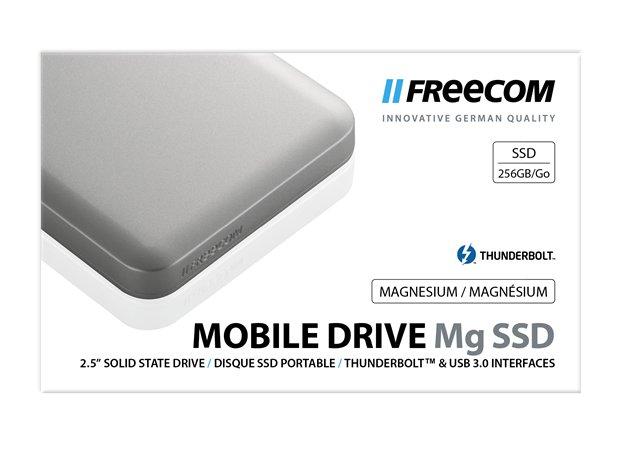 SSD (külső memória), 256GB, USB 3.0, Thunderbolt, FREECOM