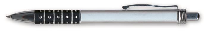 Golyóstoll, 0,6 mm, nyomógombos, vegyes színű fogórész, GRANIT