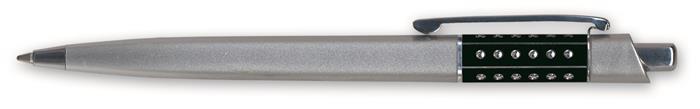 Golyóstoll, 0,6 mm, nyomógombos, vegyes színű betét, GRANIT