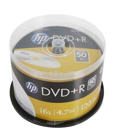 DVD+R lemez, 4,7 GB, 16x, hengeren, HP