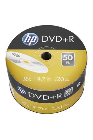DVD+R lemez, 4,7 GB, 16x, zsugor csomagolás, HP