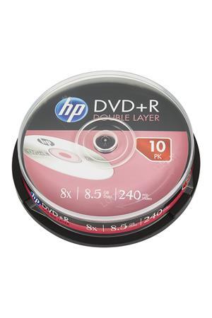 DVD+R lemez, kétrétegű, 8,5GB, 8x, hengeren, HP