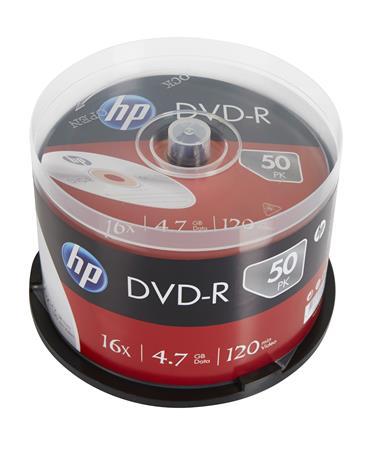 DVD-R lemez, 4,7 GB, 16x, hengeren, HP