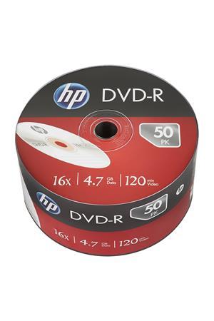 DVD-R lemez, 4,7 GB, 16x, zsugor csomagolás, HP