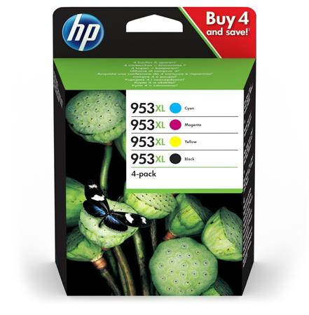 3HZ52AE Tintapatron multipack, OfficeJet Pro 8210, 8700-as sorozathoz, HP 953XL, b+c+m+y, 2k+3*1,6k