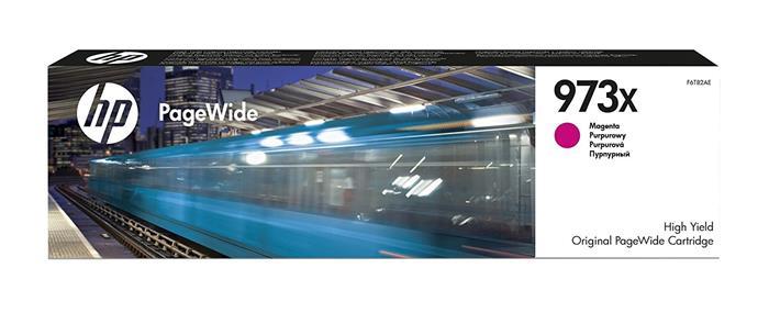 F6T82AE Tintapatron, PageWide Pro 452, 477, Managed P57750, P55250 nyomtatókhoz, HP 973X, magenta, 7k