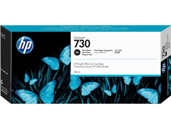 P2V73A XL Tintapatron DesignJet T1600, T1700, T2600 nyomtatókhoz, HP 730, fotó fekete. 300 ml