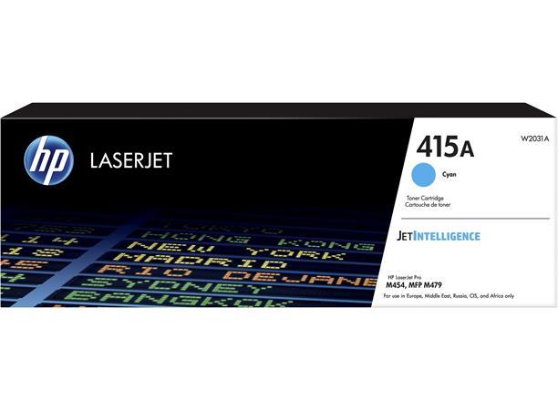 W2031A Lézertoner Color LaserJet Pro M454, MFP M479 nyomtatókhoz, HP 415A, cián, 2,1k
