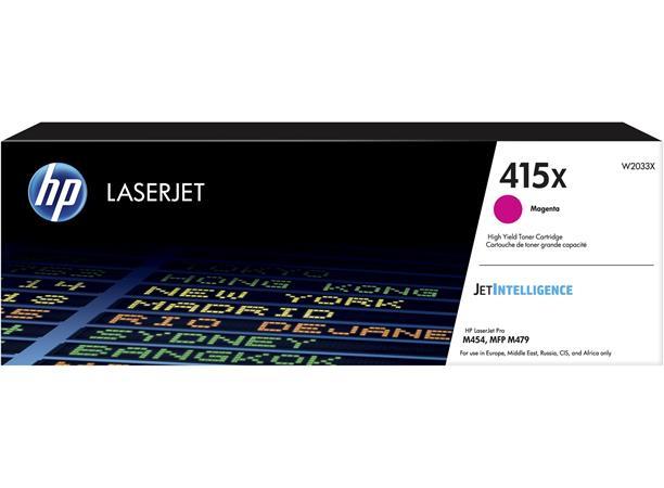 W2033X Lézertoner Color LaserJet Pro M454, MFP M479 nyomtatókhoz, HP 415X, magneta, 6k