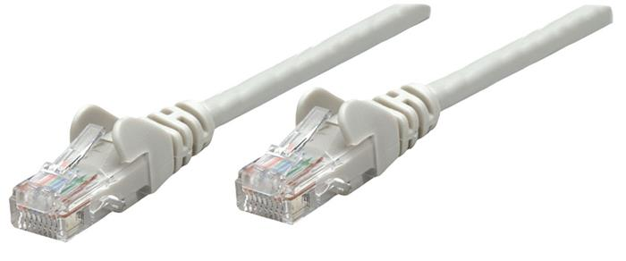 UTP patch kábel, Cat6A, 0,5 m, réz, S/FTP, INTELLINET, szürke