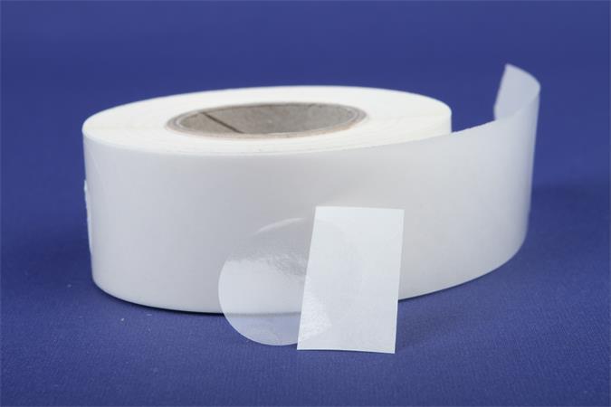 Etikett, 20 mm kör, 1000 etikett/tekercs, víztiszta