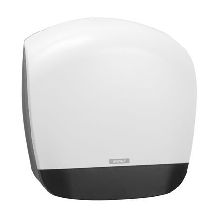 Toalettpapír adagoló, tekercses, 19 cm, mini, KATRIN, fehér