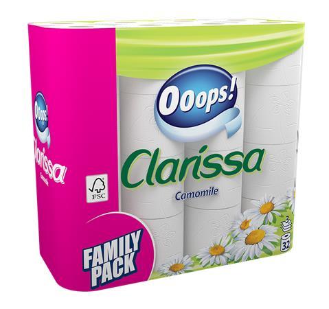 Toalettpapír, 3 rétegű, 32 tekercses,