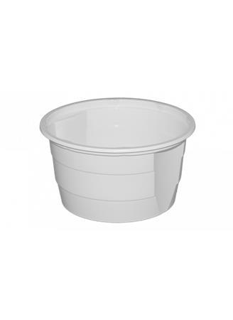 Műanyag gulyás tányér, 750 ml, 50 db, fehér