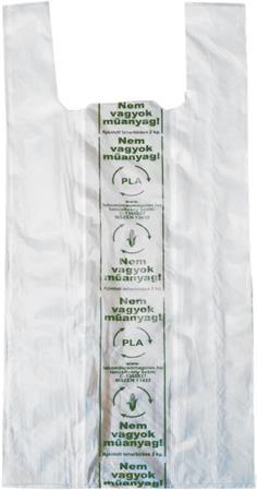 Ingvállas tasak, natúr, lebomló, 19x45x0,12 cm
