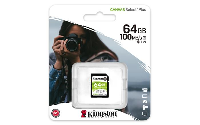 Memóriakártya, SDXC, 64 GB, CL10/U1, KINGSTON