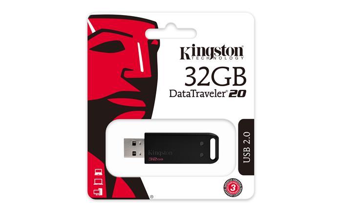 Pendrive, 32GB, USB 2.0, KINGSTON