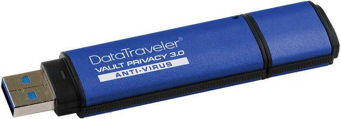 Pendrive, 8GB, USB 3.0, titkosítás, KINGSTON