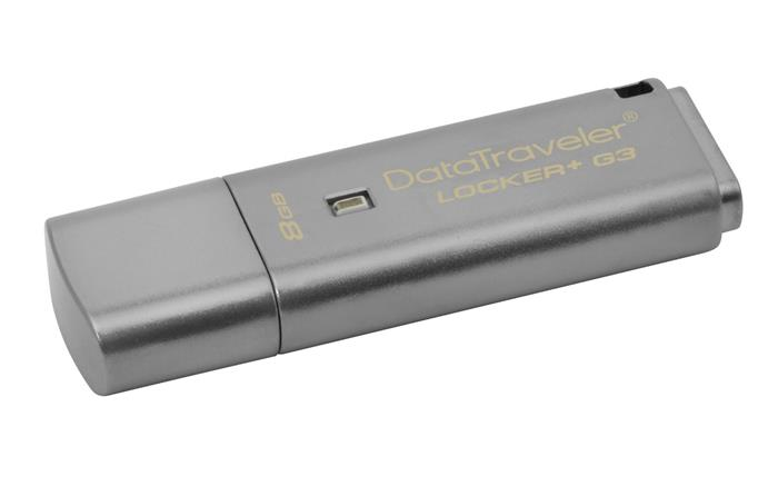 Pendrive, 8GB, USB 3.0, 10/80MB/sec, jelszavas védelemmel, KINGSTON