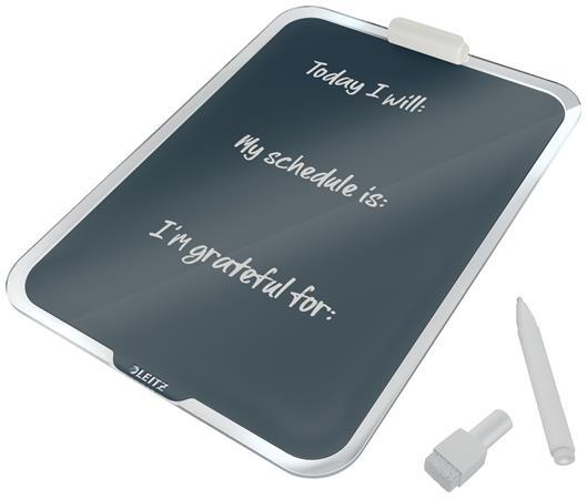 Mágneses üvegtábla, asztali, A4, LEITZ