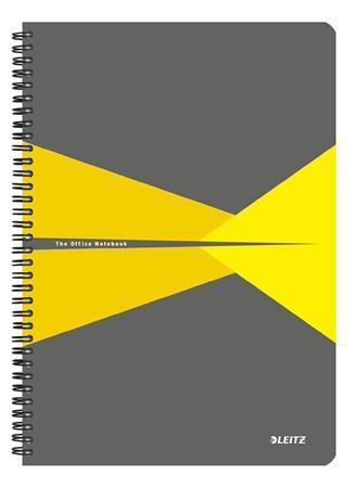 Spirálfüzet, A4, vonalas, 90 lap, laminált karton borító, LEITZ