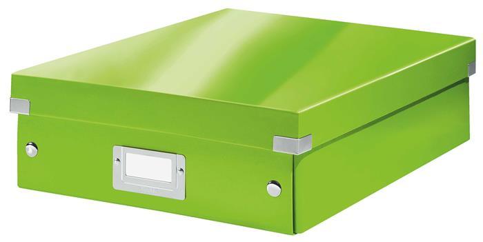 Tároló doboz, rendszerező, laminált karton, M méret, LEITZ