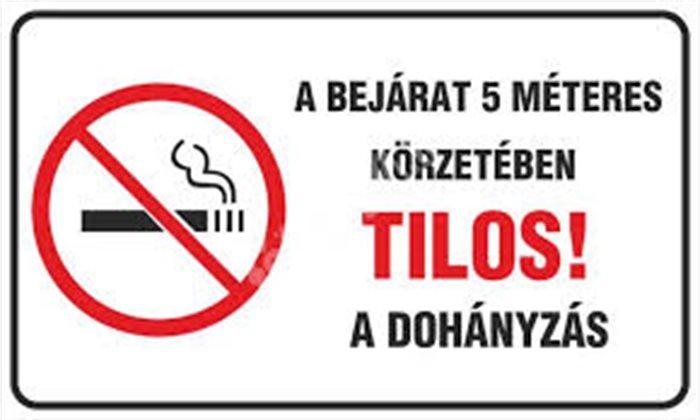 dohányzásellenes bejárat